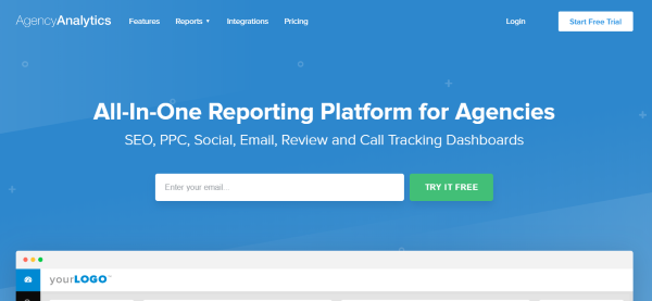 AgencyAnalytics SEO Dashboard
